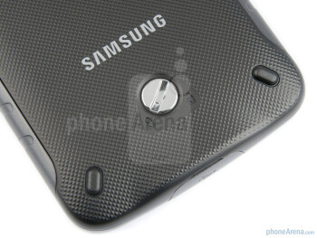 Lock on the back - Back cover off - Samsung GALAXY Xcover Preview