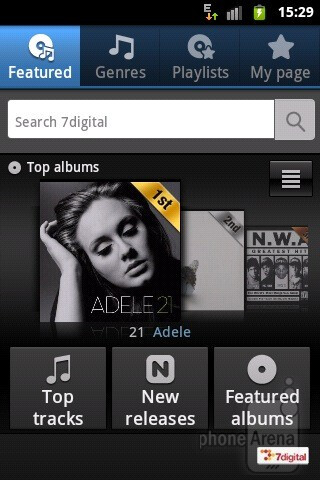 The Music Hub app - Samsung GALAXY Xcover Preview