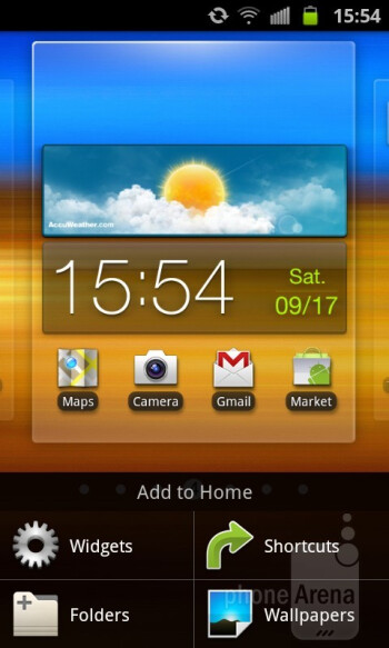 The Samsung Epic 4G Touch runs Android 2.3.4 with Samsung's TouchWiz interface on top of it - Samsung Epic 4G Touch Review