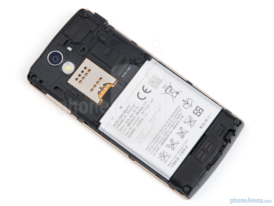 Under the battery cover - Sony Ericsson Xperia ray Review