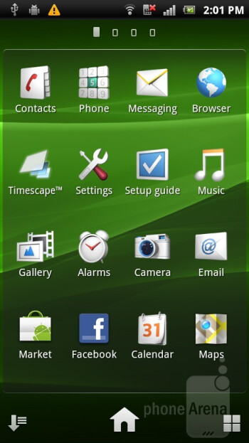 The Timescape UX Android overlay found on the Sony Ericsson Xperia ray - Sony Ericsson Xperia ray Review