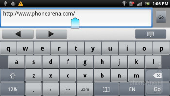 The browser of Sony Ericsson Xperia ray is a joy to use - Sony Ericsson Xperia ray Review