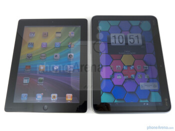 Apple iPad 2 (left) and HTC Jetstream (right) - HTC Jetstream vs Apple iPad 2