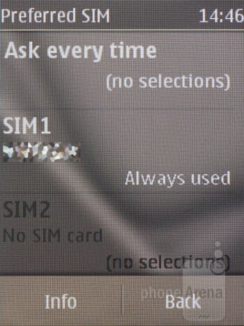 Dual SIM settings - Nokia C2-03 Review