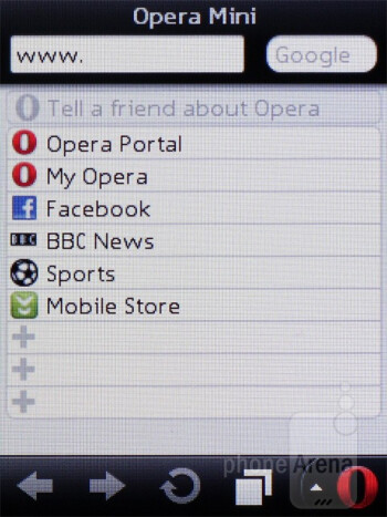 Browsing the web with Opera Mini - Nokia C2-03 Review