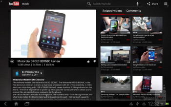 Google branded apps on the HTC Jetstream - HTC Jetstream vs Apple iPad 2