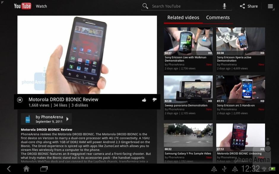 Google branded apps on the HTC Jetstream - HTC Jetstream vs Apple iPad 2