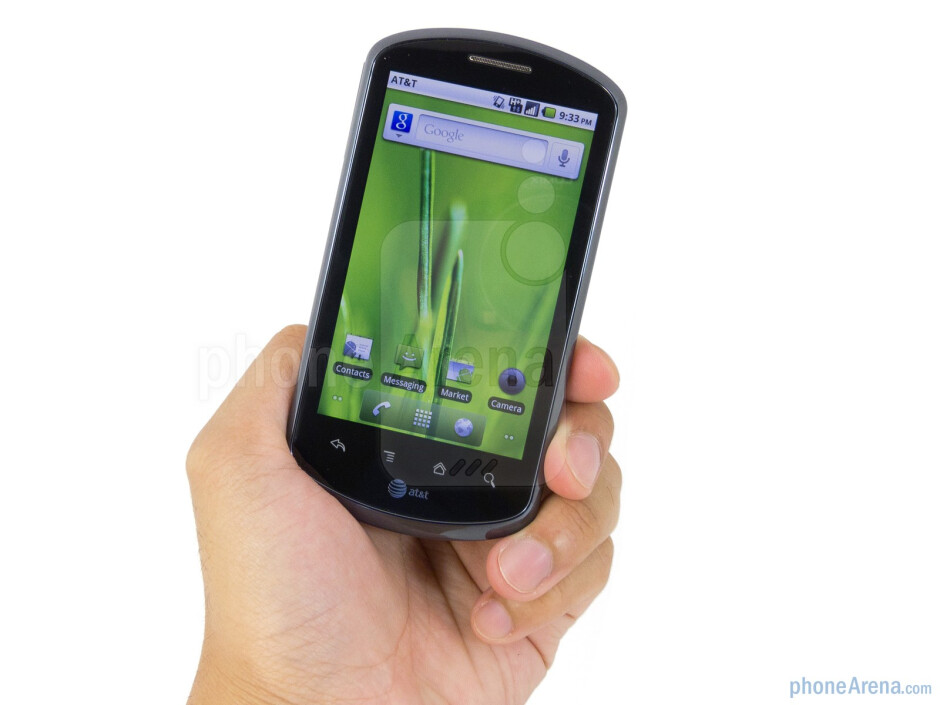 The AT&T Impulse 4G sports a clean look with its soft touch exterior - AT&T Impulse 4G Review