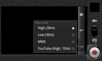 Camera interface - AT&T Impulse 4G Review