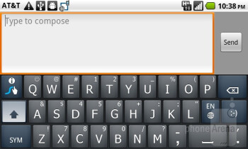On-screen keyboards - AT&T Impulse 4G Review