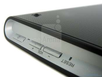 Physical buttons on the right edge - Sony Tablet S Review