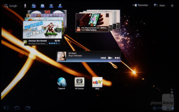 The interface of the Sony Tablet S - Sony Tablet S Review