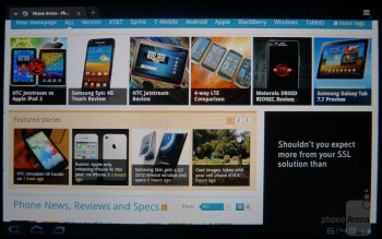 Web browsing with the Sony Tablet S - Sony Tablet S Review