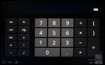 Calculator - The desk clock app has a slight minimalistic and Metro-ish appearance - Sony Tablet S Review