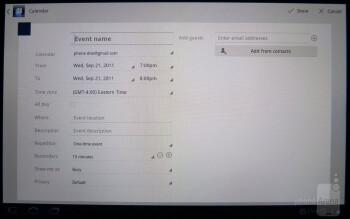 Calendar - Sony Tablet S Review