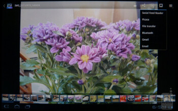 The picture and video galleries - Sony Tablet S Review