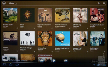 The stock Honeycomb music player - Sony Tablet S Review