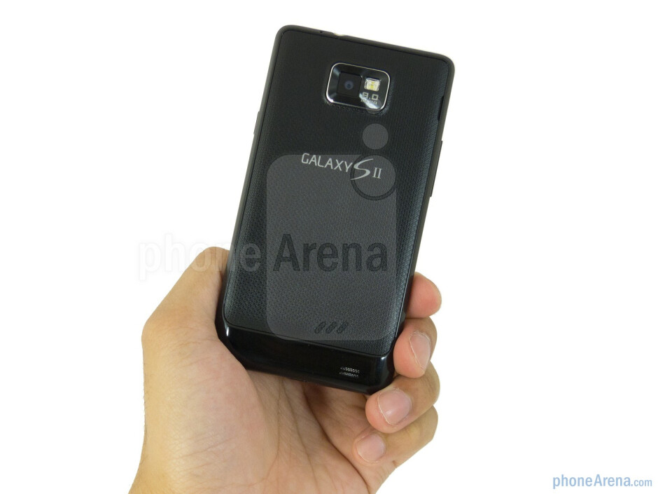 The Samsung Galaxy S II AT&T is deceptively light weight thanks to its svelte all-plastic construction - Samsung Galaxy S II AT&T Review