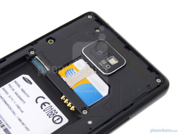 The SIM card slot - Samsung Galaxy S II AT&T Review