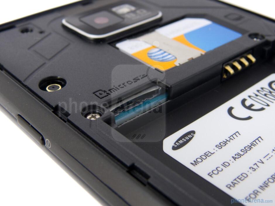 microSD card slot - Samsung Galaxy S II AT&T Review