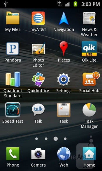 The app panel - Samsung Galaxy S II AT&T Review