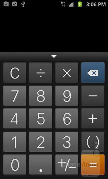 Calculator - Organizer apps of the Samsung Galaxy S II AT&T - Samsung Galaxy S II AT&T Review