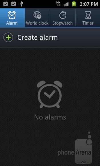 Clock app - Organizer apps of the Samsung Galaxy S II AT&T - Samsung Galaxy S II AT&T Review