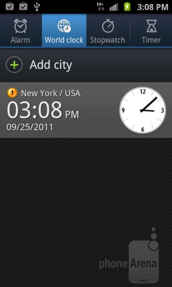 Organizer apps of the Samsung Galaxy S II AT&T - Samsung Galaxy S II AT&T Review