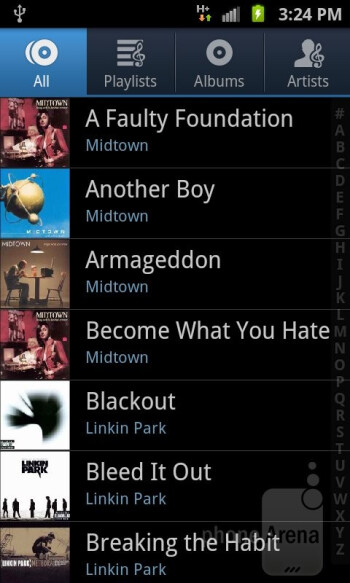 The music player - Samsung Galaxy S II AT&T Review