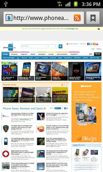 Complex web pages load in a jiffy - Samsung Galaxy S II AT&T Review