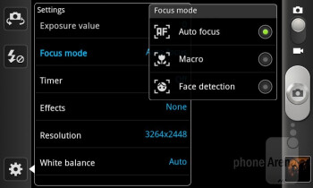Camera interface - Samsung Galaxy S II AT&T Review