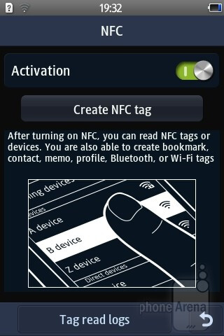NFC app - Samsung Wave Y Preview