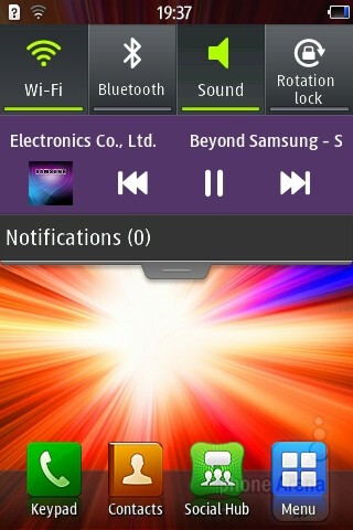 The music player - Samsung Wave Y Preview