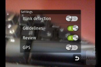 Camera interface - Samsung Wave Y Preview