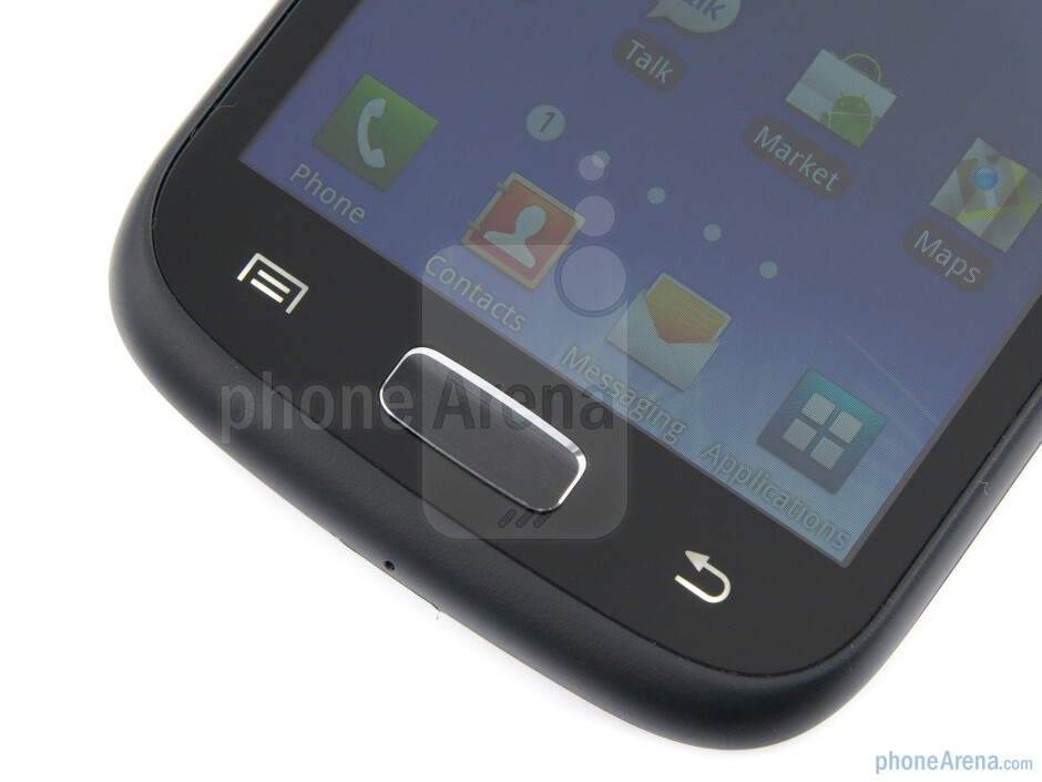 Buttons below the display - Samsung GALAXY W Preview