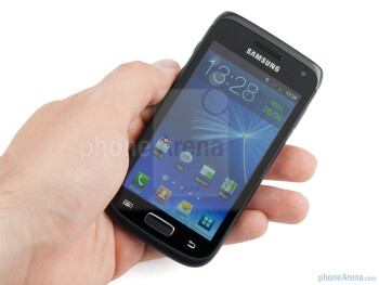 The Samsung GALAXY W has a soft touch finish added to it, making it  pretty comfortable to hold - Samsung GALAXY W Preview