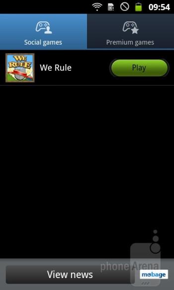 Game Hub - Samsung GALAXY W Preview