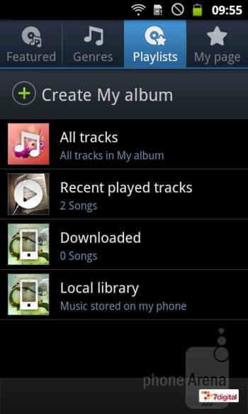 Music Hub - Samsung GALAXY W Preview