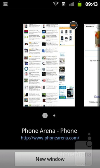 Browsing the web on the Samsung GALAXY W - Samsung GALAXY W Preview
