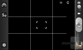 Camera interface - Samsung GALAXY W Preview