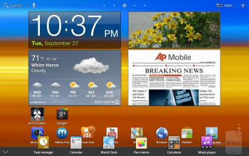 The Mini Apps tray - Samsung GALAXY Tab 8.9 Review