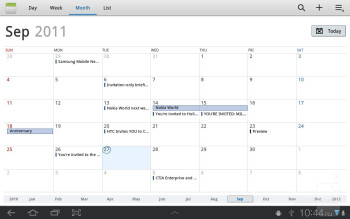 Calendar - Samsung GALAXY Tab 8.9 Review