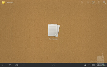 Memo app - Samsung GALAXY Tab 8.9 Review