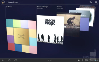 Music player - Samsung GALAXY Tab 8.9 Review