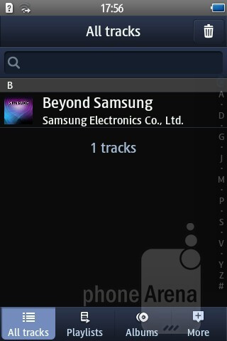The music player interface - Samsung Wave M Preview