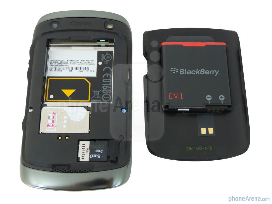 Battery compartment - RIM BlackBerry Curve 9360 Review