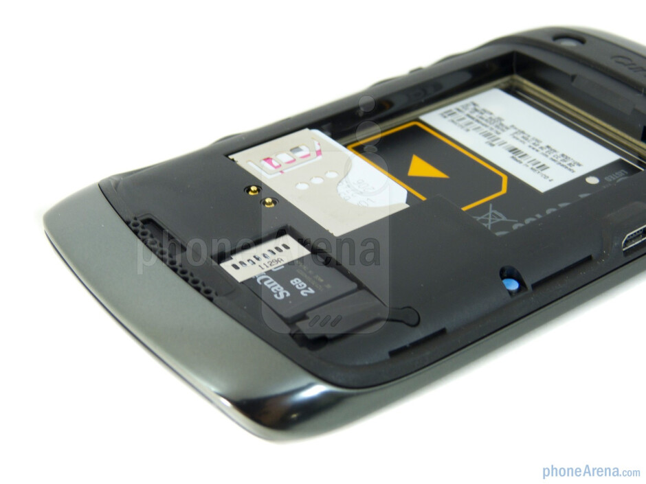SIM and microSD card slots - RIM BlackBerry Curve 9360 Review