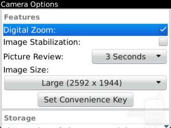 Camera interface - RIM BlackBerry Curve 9360 Review