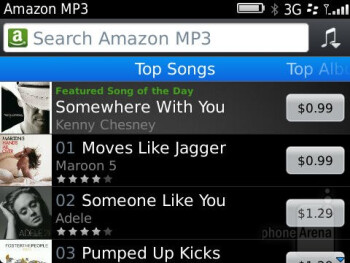 Amazon MP3 Store - Third party apps - RIM BlackBerry Curve 9360 Review