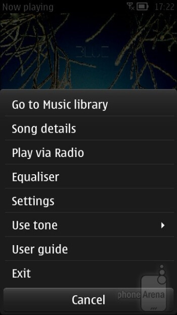 The updated interface of the music player - Nokia 701 Review